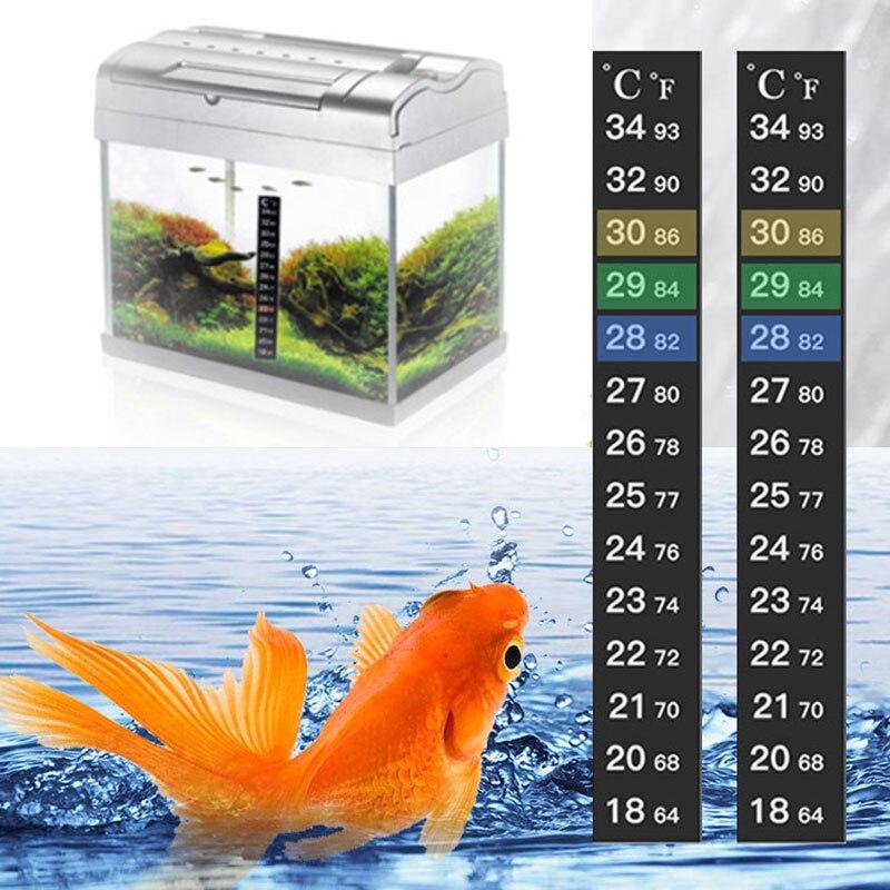 Digital Aquarium Stick-on Fish Tank Fridge Thermometer Sticker Measurement Tools Temperature Control Products Pet Products 2021