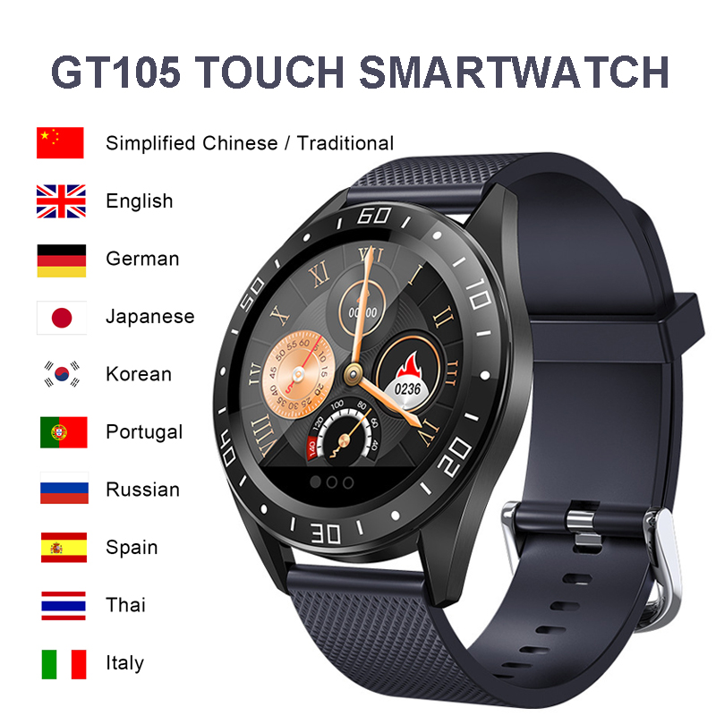 2020 Smart Watch Men Women <font><b>GT105</b></font> Bluetooth Waterproof Heart Rate Monitor Blood Pressure <font><b>Smartwatch</b></font> Men Women Call Reminder image