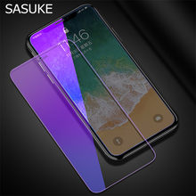 Anti Blu-ray Tempered Glass Film For iPhone 5 5s SE 6 6s 7 8 Plus Screen Protector For iPhone X XS Max XR 11 Pro Max Clear Films(China)