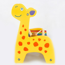 Wallboy Wooden multifunctional deer knocking on the piano, beading, beading, calculation, flip, childrens educational toys