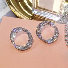 2021 European and American Jewelry creative full gold exaggerated Earrings gold-plated inlaid Rhinestone Earrings