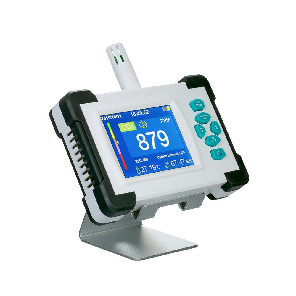 Профессиональный детектор диоксида углерода, Многофункциональный монитор качества воздуха, детектор газа, PM2.5 HCHO TVOC тестер, измеритель CO2, м...