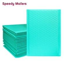 Hızlı posta 50 adet Teal yeşil poli kabarcıklı postalar yastıklı zarflar kendinden sızdırmazlık zarf kabarcık zarf nakliye zarfları