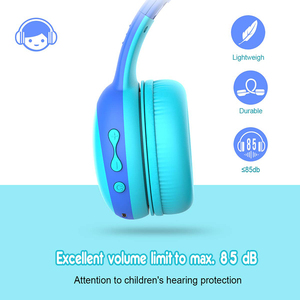 Image 4 - Gorsun E61 Child Headphone bluetooth5.0 Bass headset stereo cat ear earbuds Foldable 3,5mm AUX for phone MP4 for girl boy gift