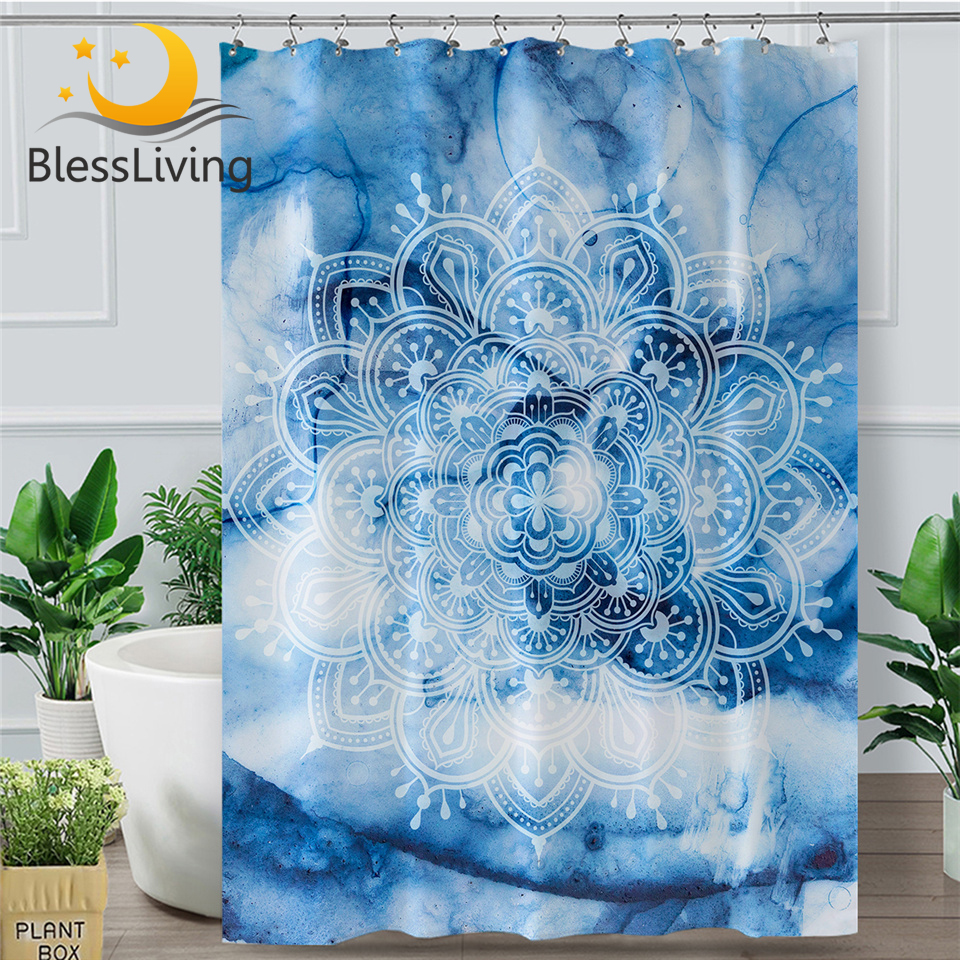 Beautiful color flower wall Shower Curtain Bathroom Fabric /& 12hooks 71*71inches