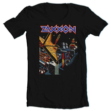 Zaxxon camiseta retro vintage arcade video juego 1980 negro algodón gráfico tee moda clásica camiseta