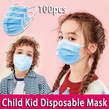 100pcs Children 3 Layer Non Woven FFP3 KF94 N95 Fabric Mask Anti Dust Antibacterial Mouth Mask PM2.5 kf94 마스크 kids