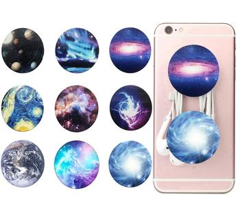 Starry Sky Series Portable Round  Elastic Pocket Socket Pop-up Phone Stand Extension  Phone Handles Car phone holder