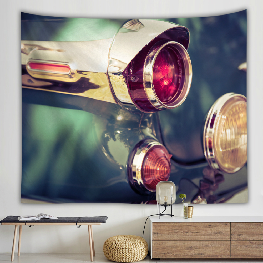Car Pattern Printed Wall Cloth Tapestries Thin Polyester Bohemian Tapestry Wall Hanging Home Decoration Table Background Rug in Tapestry from Home Garden