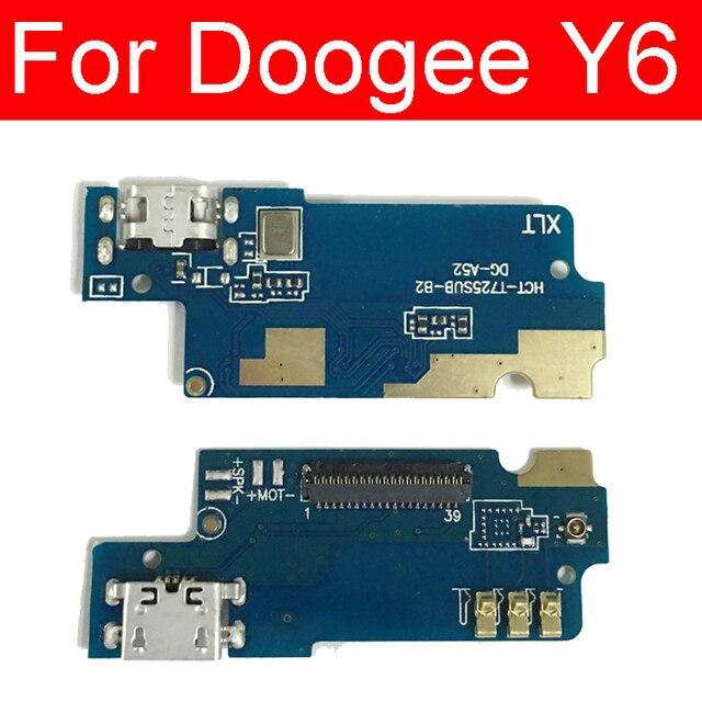 Port ładowania USB płyta Jack do ładowarki Doogee Y6 wtyczka USB złącze dokujące płyta Flex Cable części zamienne
