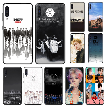 KPOP EXO Phone case For Samsung Galaxy A 3 5 8 9 10 20 30 40 50 70 E S Plus 2016 2017 2018 2019 black silicone back luxury image