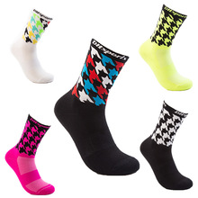 DH SPORTS Professional Cycling Socks Breathable Outdoor Exercise Sports Hiking Socks Compression Athletic Riding Socks Men Women cycling socks 3 pairs lot dh sports dh015 nylon men sports socks basketball outdoor hiking socks
