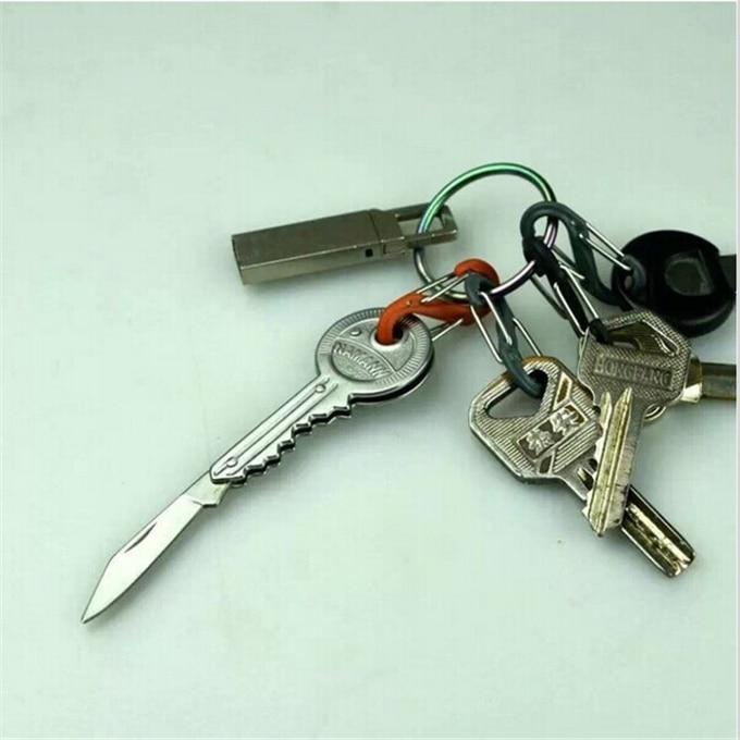 1 Unids Mini Cuchillo Clave Cadena de Bolsillo Plegable de Acero - Herramientas manuales - foto 4