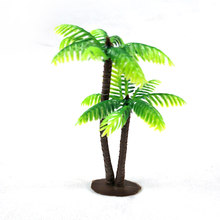 Mini Landscape Aquarium Garden Home Ornament Photo Props Coconut Plants Simulation Tree Fish Tank Decoration(China)