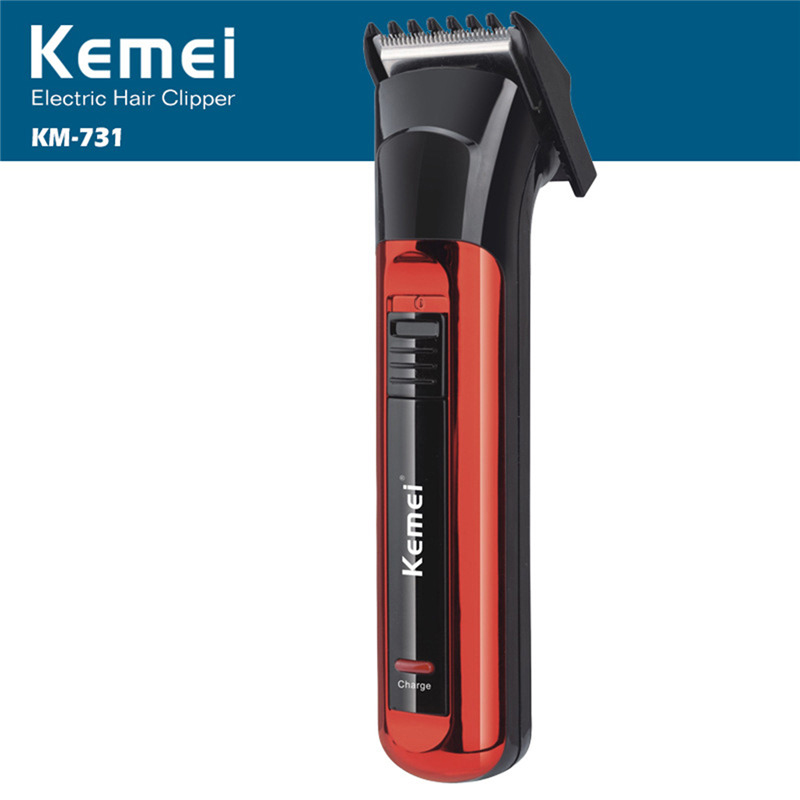 Kemei KM-731 Electric Hair Clipper Both Rechargeable And Battery Hair Trimmer Men Razor Cordless Adjustable Clipper Razor