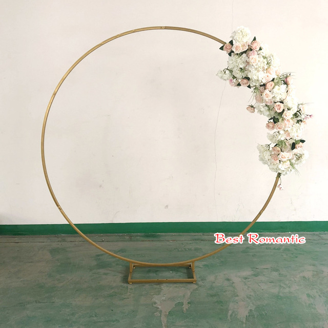 1 szt. Złoty biały ślub Metal żelazo kwiat podstawa łuku wsparcie dla dekoracji ślubnych kwiatowy stojak główny projekt drzwi