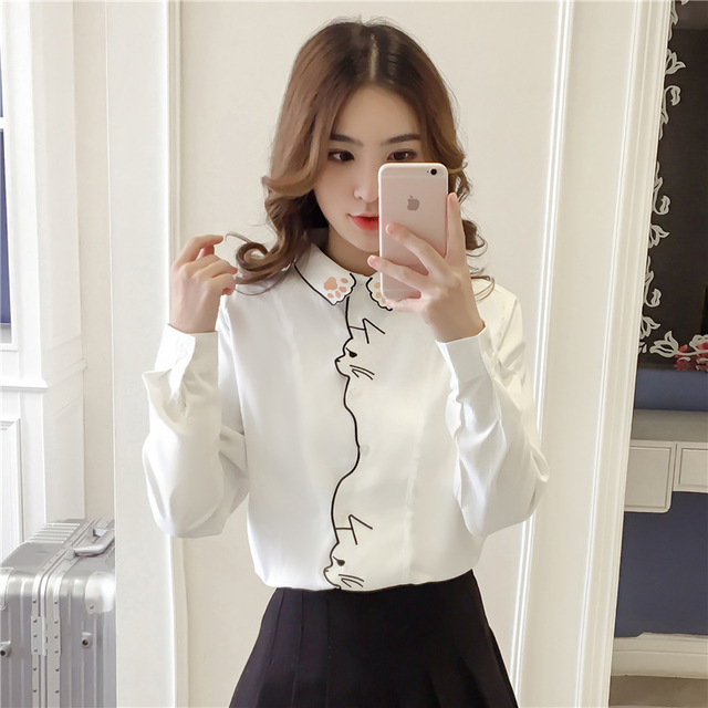 Long Sleeve Embroidery Blouse 3