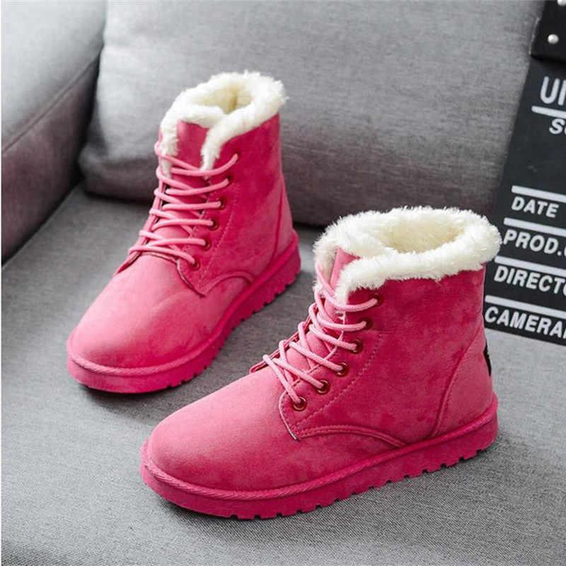 Kadın Botları 2019 Kış Kar Botları Bayan Botları Duantong Sıcak Dantel Kadınlar için Düz Ayakkabı ile Gelgit Botas Mujer F031 Sıcak satılık 35-40
