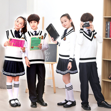 HAIJINMINGWEN Autumn and winter England cotton kids school uniforms suit Primary  College styleand middle school chorus