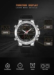 Image 2 - นาฬิกา NAVIFORCE นาฬิกาผู้ชายแบรนด์หรู Analog กีฬานาฬิกาข้อมือหนังแท้นาฬิกาผู้ชาย Relogio Masculino 9164