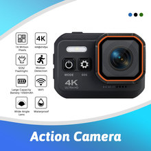 Ultra 4K 60fps Action Camera With Remote Control Two Screen Waterproof Sport Camera 170D Helmet Go Sport Pro Hero 5 Action Cam