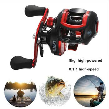 18*1BB Metal Baitcasting Fishing Reel 8.1:1 Long Shot Left / Right Hand Fishing Wheel Bait Casting Fishing Reel цена 2017