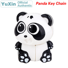 YuXin Tiny Panda Key Chain Mini 2x2x2 Magic Cube ZhiSheng 2x2 Speed Twisty Puzzle Brain Teasers Educational Toys For Children mini finger magic cube key chain