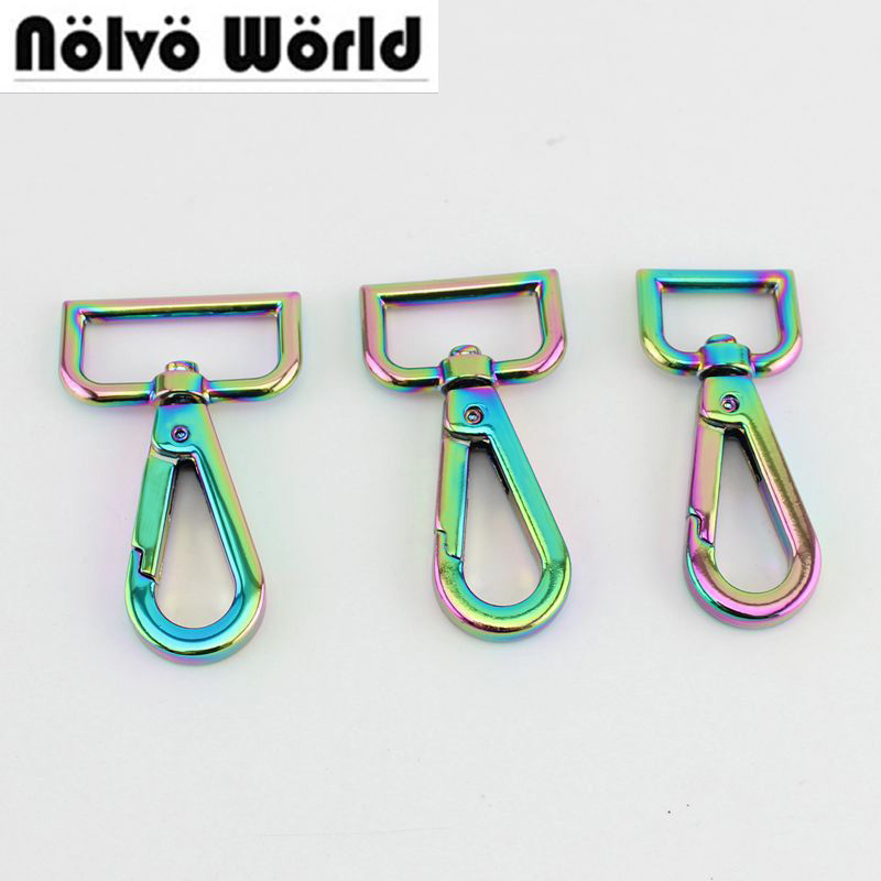 10pcs 30pcs Rainbow  High Quality Metal Swivel Clasp Lobster Claws Swivel Hooks Hardware Hook Clasp Trigger Snap Hook