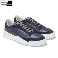 Brand Men 2020 New Students Sneakers Genuine Leather Breathable Casual