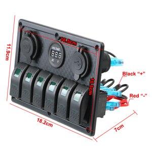 5/6 банда кулисный переключатель панель с предохранителем 4.2A двойной USB разъем цифровой дисплей напряжения для морской лодки автомобиля гру...