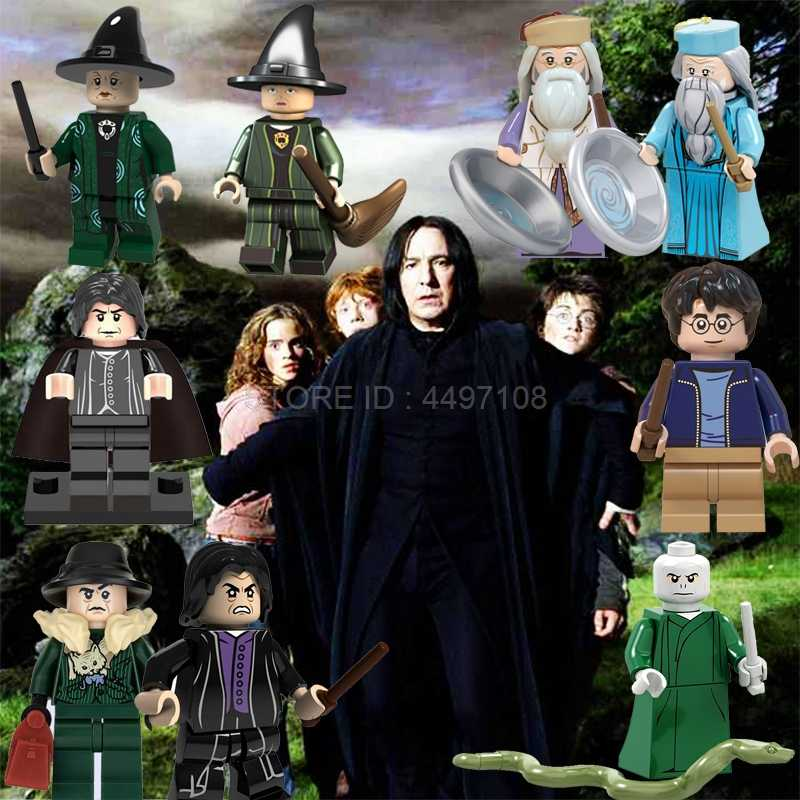 Blocks Harry Movie Figures Snape Dumbledore Minerva McGonagall Rubeus Hagrid Moody Trelawney Toy City Building Blocks Toys Sets