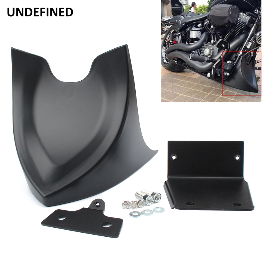For <font><b>Harley</b></font> Sportster XL 48 <font><b>883</b></font> 1200 Forty-Eight Motorcycle Chin Lower Front Spoiler Air Dam Fairing Cover Black 2004-2018 2019 image