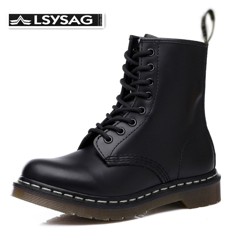 Men's Boots Genuine Leather Winter Autumn Shoes Motorcycle Men Ankle Boot Couple Oxfords Shoes Women Boots Unisex Winter Shoes