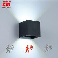 Luz conduzida da parede ao ar livre à prova dip65 água ip65 radar sensor de movimento varanda lâmpada de parede arandela casa decoração interior lâmpada iluminação zbw0002 Luminárias de parede externas     -