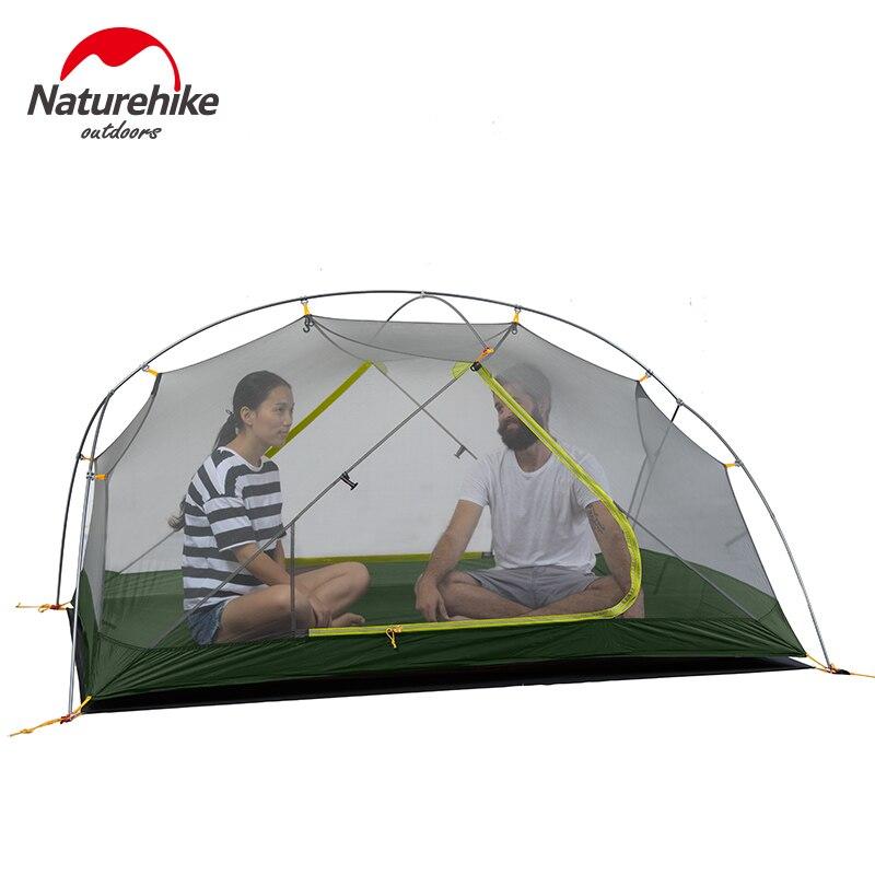 Image 5 - Naturehike 2020 nowy Mongar 15D Ultralight Camping namiot 2 osób Nylon dwuwarstwowa wodoodporna odkryty przenośne namioty wspinaczkoweNamioty   -