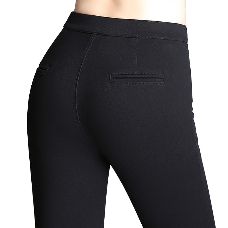 WQJGR Pencil Pants woman Of 2019 New Female Slim Feet Black Elastic Trousers Women Long