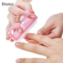Biutee 15pcs UV Gel Mini Plastic Nail Art Brushes Mix Color Soft Remov