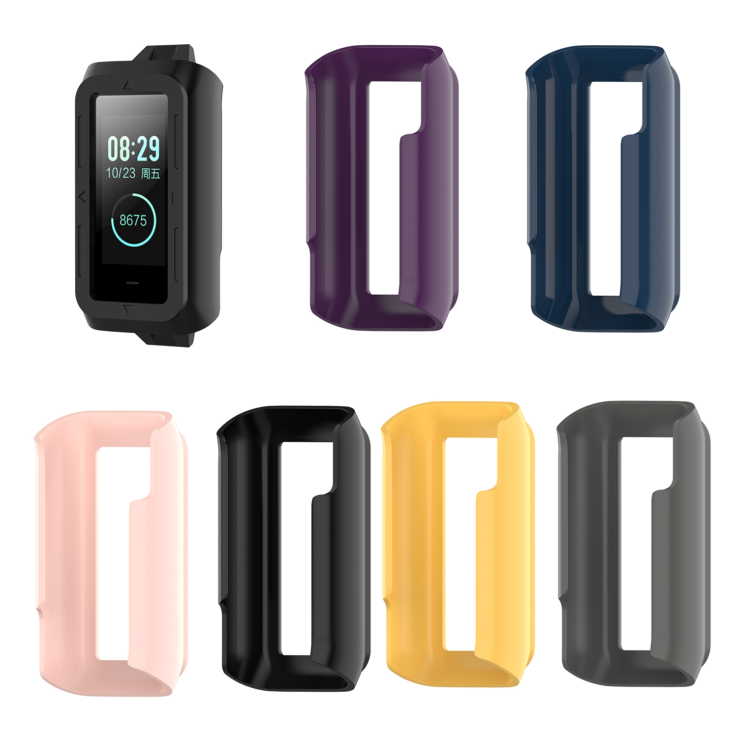 Screen Protector Watch Case For <font><b>Huami</b></font> <font><b>Amazfit</b></font> Cor2 A1712 Protective PC Case cover Replace for <font><b>Amazfit</b></font> <font><b>Cor</b></font> <font><b>2</b></font> wrist strap Silicone image