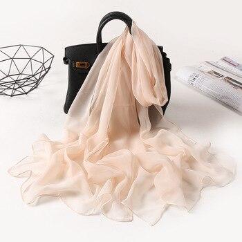 2020 New Fashion Spring/Summer Women solid Headband Beach Silk Scarf Shawls Female Long Wraps Panama Sunscreen Hijab - discount item  30% OFF Scarves & Wraps