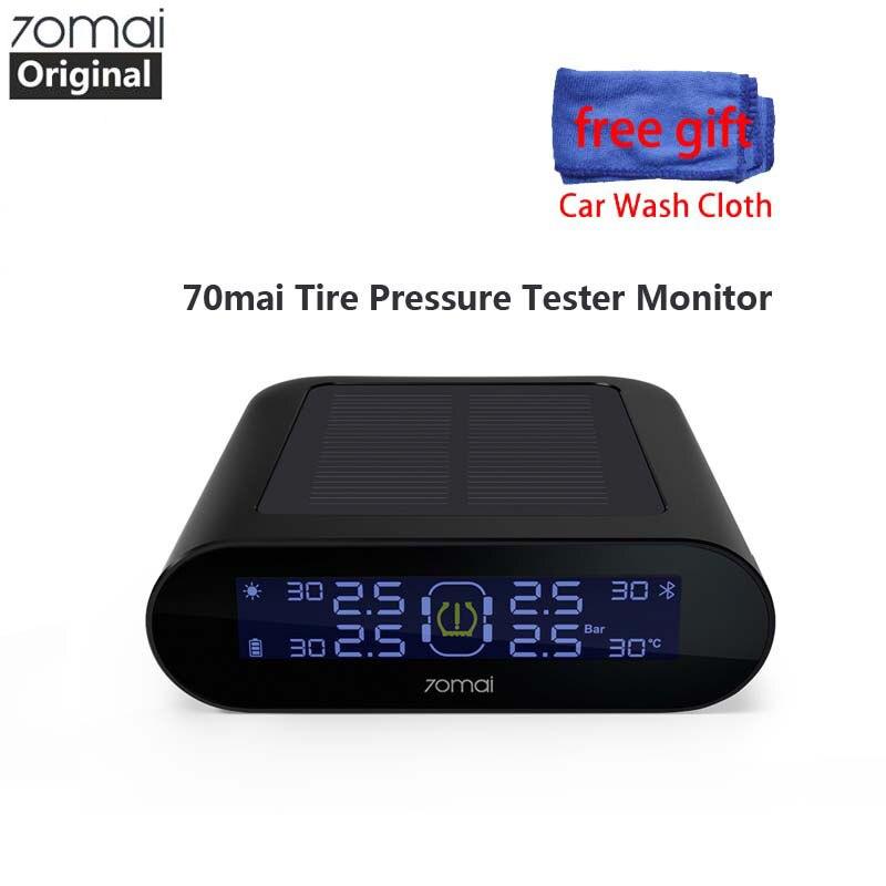 Original 70mai tpms Monitor de Pressão Dos Pneus TPMS Carro Dual USB Carregador De Energia Solar 70 mai 4Built-in Segurança Seguro Com Bitola sensor de