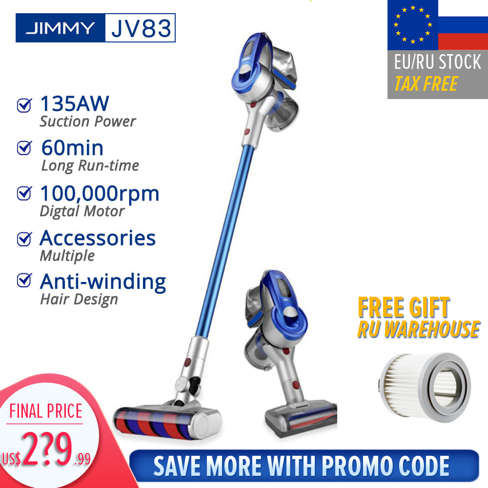 【Free Duty】 JIMMY JV83 Vacuum Cleaner Wireless Handheld Cordless Stick Vacuum Cleaner 20kPa VS JIMMY JV51