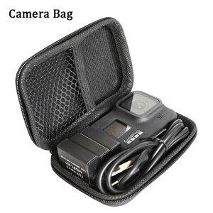 Image 4 - 7 En 1 para GoPor Hero 8 Black Accessoires, funda de silicona/bolsa de funda EVA/Protector de pantalla de vidrio templado/cordón/correa de muñeca go pro 8