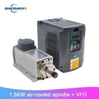 1.5KW ER11 Air Cooled Spindle Router CNC Spindle Motor Machine Tools Spindle + 110V 220V FVD Inverter For CNC Machine Tools