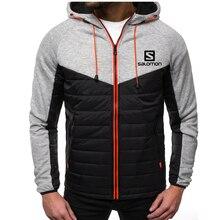 New Casual Hoody Spliced Jacket Salomon Printed Men Hoodies Sweatshirts Fashion