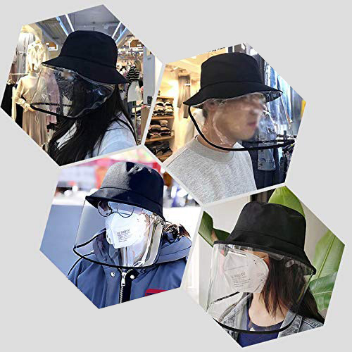 Epidemic Protection Hat Anti Saliva UV Hat with Face Shield Full Face Isolation Anti-Pollution for Fishing Boonie Camping Hiking 4