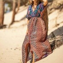 Пикантное пляжное платье кимоно винтажное праздничное бикини