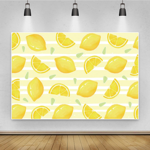 Image 1 - Laeacco פירות חנות לימון עגלת קינוח תינוק מקלחת יילוד צילום רקע צילום תפאורות Photozone תמונה סטודיו