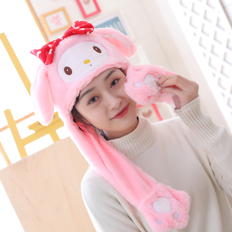 Kids Girls Womens Winter Movable Pikachu Ears Funny Christmas Party Hat Cap Gift