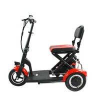 Scooter Eléctrico de tres ruedas para adultos, triciclo eléctrico de 36V 300 W, Scooter Eléctrico plegable para ancianos