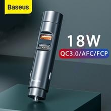 Baseus FM Modulator Transmitter Bluetooth 5.0 Car Handsfree Kit 18W PPS Dual USB Car Charger Wireless FM Radio MP3 Player